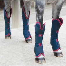 Shires Travel Boots - Navy/Red