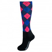 Printed Over the Calf Peddies Vivacious Argyle
