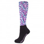 Printed Over the Calf Peddies Violet Floral