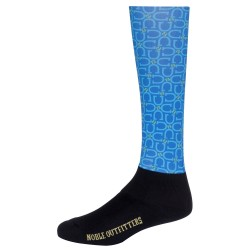 Printed Over the Calf Peddies Tahoe Blue/Horseshoe