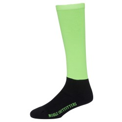 Printed Over the Calf Peddies Neon Green