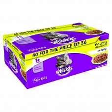 Whiskas Pouch Poultry - 40 x 100g