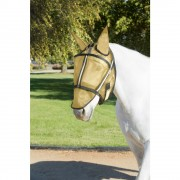 Guardsman Fly Mask with Ears in Noble Gold