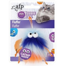 All For Paws Furry Ball Fluffer - Orange