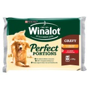 Winalot Perfect Portions Pouches in Gravy - 4 x 100g