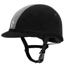 Charles Owen Yr8 Riding Hat Black & Charcoal